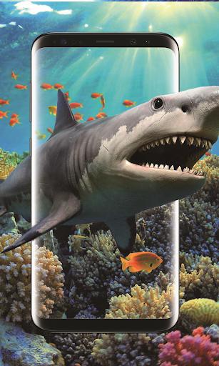3d shark in the ocean live wallpaper screenshot 1