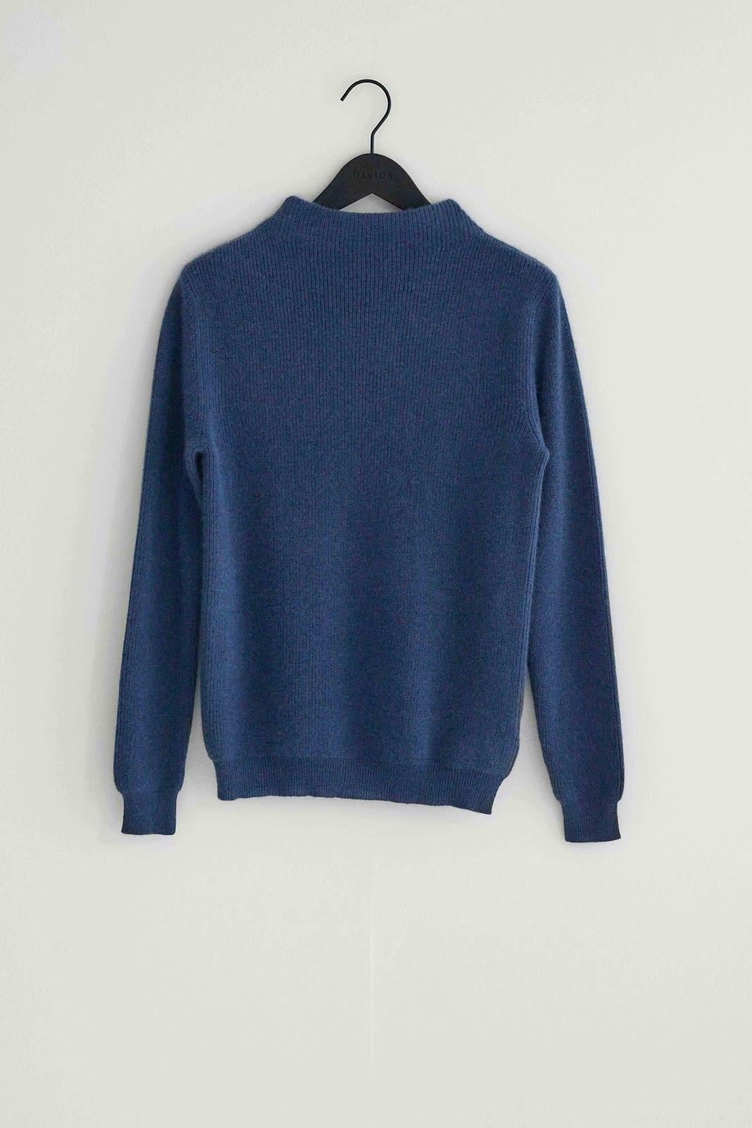 Rib Funnel Neck Sweater