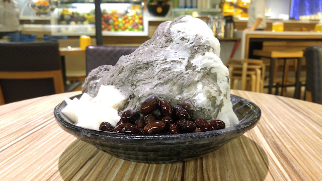 almond shaved ice at the Ice Monster in Taipei in Taipei, T'ai-pei county, Taiwan
