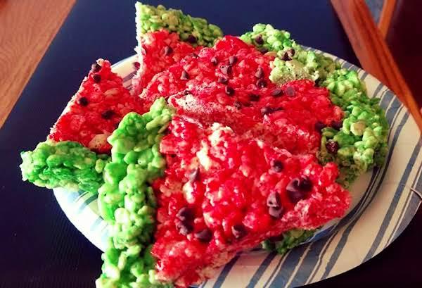 Watermelon Rice Krispy Treats Recipe