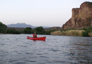 Photo: Bob M. on his new canoe.