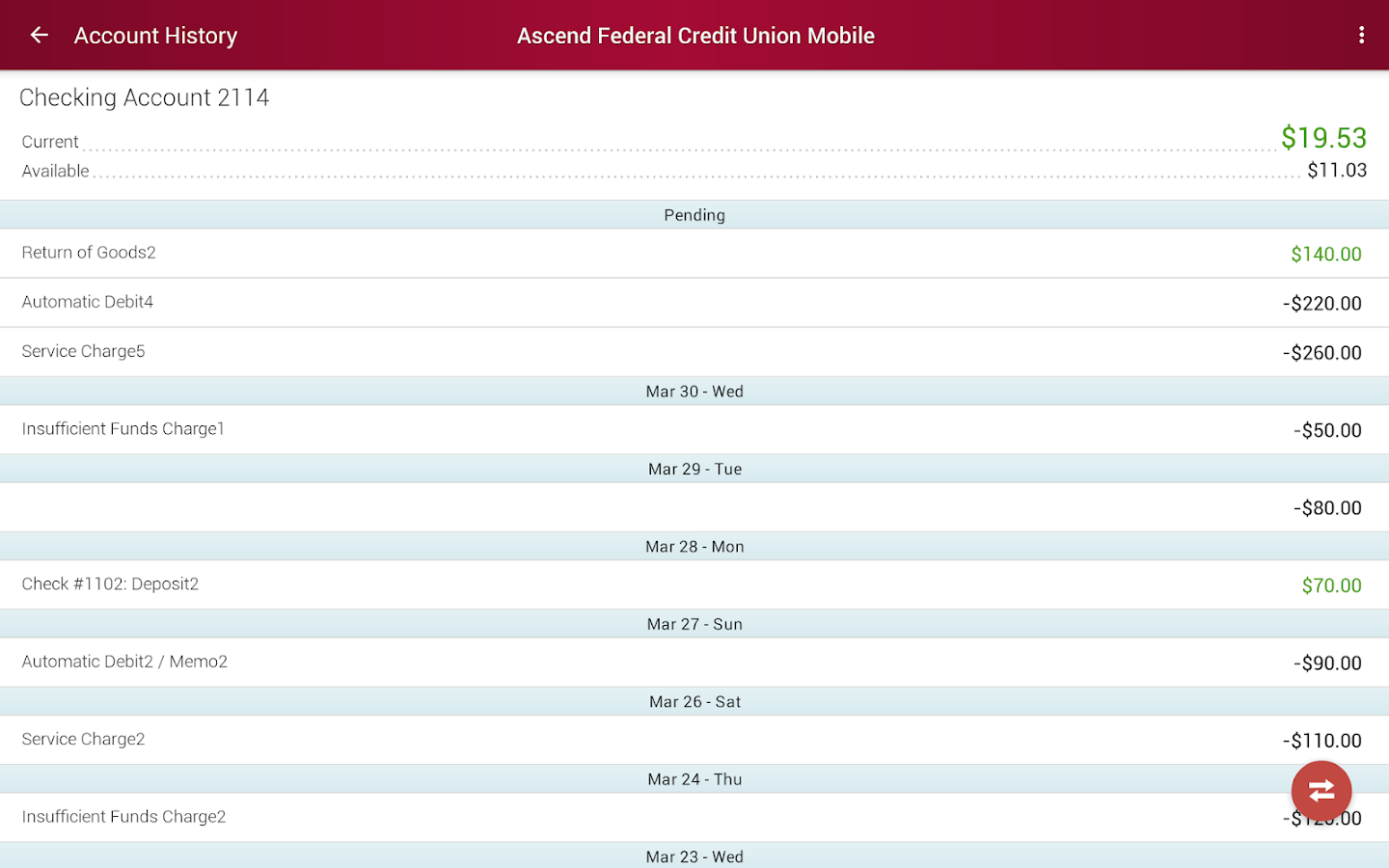 Ascend Federal Credit Union- screenshot