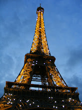 Photo: And at 10 PM, it's finally dark enough for the famous 10 minutes of Eiffel twinkle.
