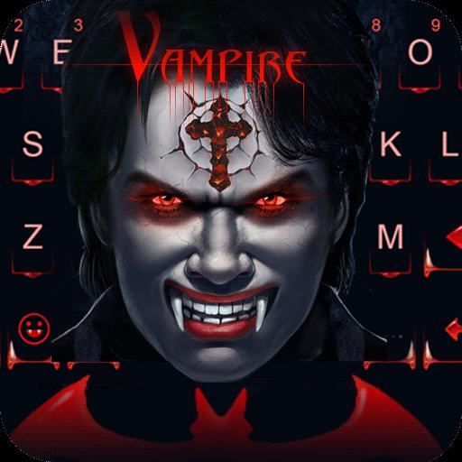Keyboard - Vampire Scary Free Emoji Theme