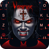 Keyboard - Vampire Scary Free Emoji Theme