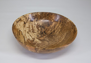 "Photo: Steve Haddix 7 1/2"" x 2"" bowl [spalted oak]"