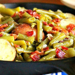 Homestyle Green Beans And Red Potatoes.
