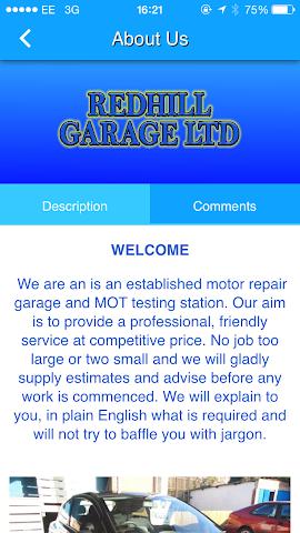 android Redhill Garage Ltd Screenshot 2