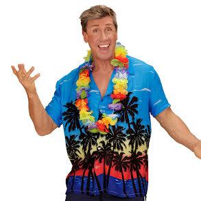 Hawaiiskjorta, blå