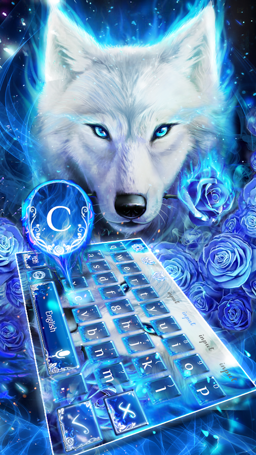 Blue Fire Wolf Keyboard Theme - Android Apps on Google Play