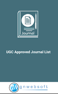 UGC Approved Journal List - náhled