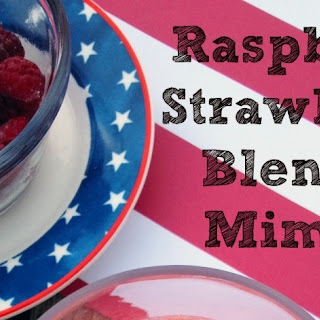 Raspberry Strawberry Blended Mimosa