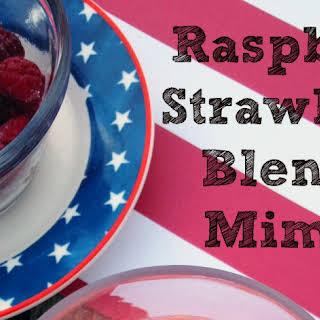 Raspberry Strawberry Blended Mimosa.