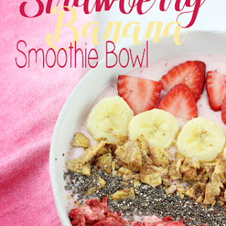 Strawberry Banana Smoothie Bowl.