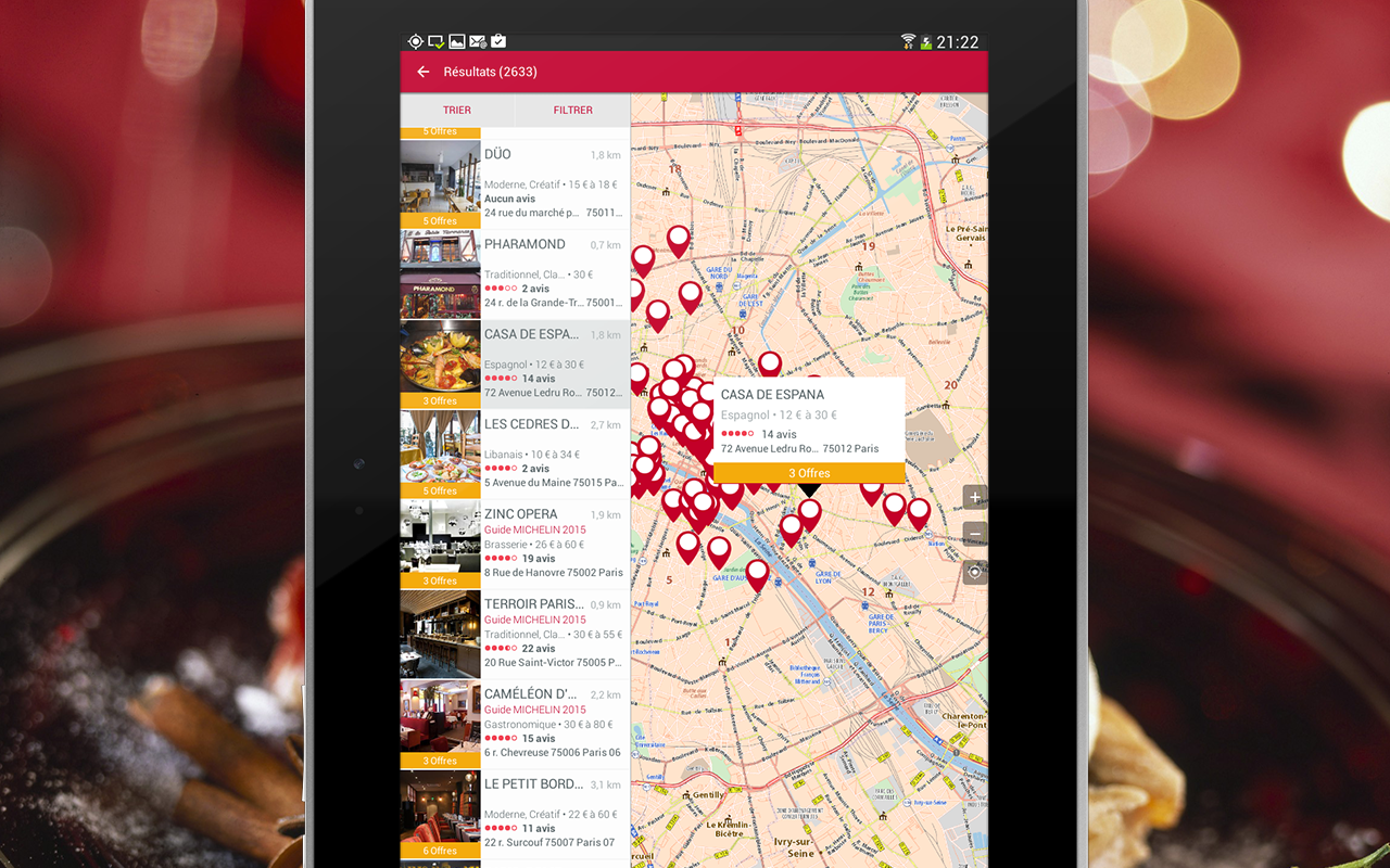 MICHELIN Restaurants- screenshot