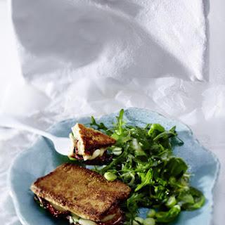 Stuffed Tofu with Arugula Salad