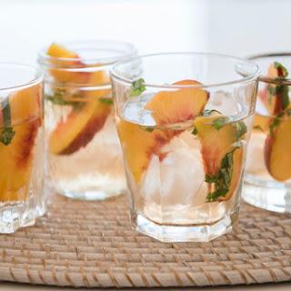 Homemade Peach Liqueur.