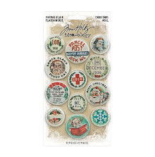 Tim Holtz Idea-Ology Flair 12/Pkg - Christmas 2020