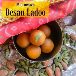 Microwave Besan Ladoo (Chickpea Fudge)