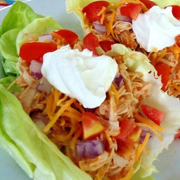 Fiesta Slow Cooker Chicken Tacos Recipe | Yummly
