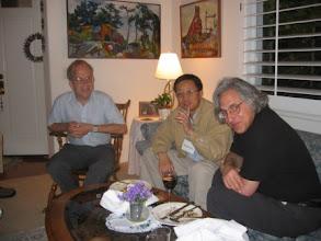 Photo: Professors Karl Rubin, Hongkai Zhao and Abel Klein