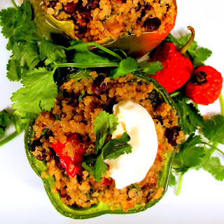 Cinco de Drinko Quinoa-Stuffed Bell Peppers