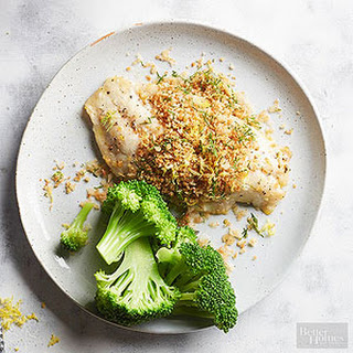 Lemon Baked Fish with Dill Panko Topping Recipe