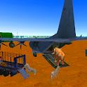 Airplane Transport Zoo Animals icon