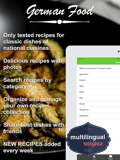 無料健康Appのドイツ料理 クックブック。クイックとベストレシピ&料理を調理|記事Game