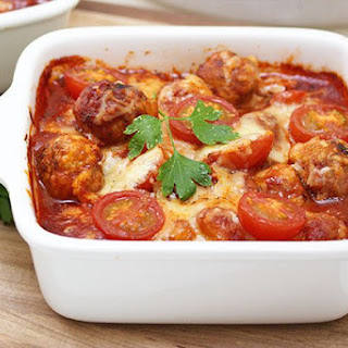 Gnocchi Meatball Bake with Capsicum Sauce