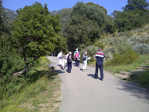 Photo: Group stroll in the gardens at Royal Canadel