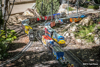 Photo: Second Round...I moved the center train back some...but I'm puzzled by the amount of noise in all three pictures...the ISO wasn't that high.