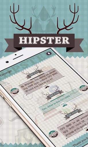 GO SMS PRO HIPSTER THEME