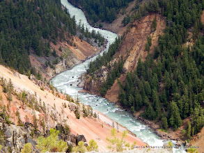 Photo: Closer view of the Yellowstone River