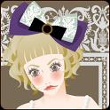 おしゃれでかわいい女の子ライブ壁紙1(アナログ時計) icon