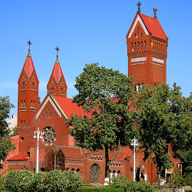 by Val Sher - Buildings & Architecture Places of Worship ( red, church, historical, building, architecture,  )