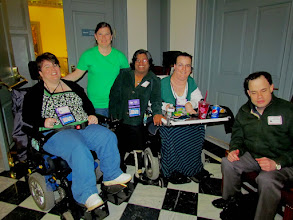 Photo: Great smiles from the gang at UCP! March 25, 2015 was not only Disability Day at Legislative Hall, it was also Cerebral Palsy Awareness Day. Wear green if you would like to show your support of CP awareness all year long. :-)