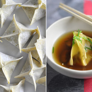 Mushroom, Chilli And Cabbage Dumplings In Broth