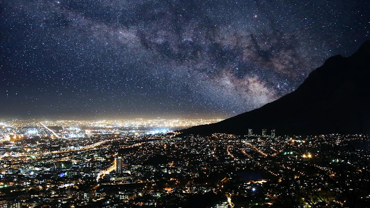 Cape Town is filled with bright lights that usually mask the night sky above. These reimagined images reveal what city residents could see in the sky above if light pollution didn't exist. https://www.underluckystars.com/if-light-pollution-cleared#cape-town