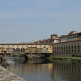 Ponte Vecchio by Carol Lauderdale - Buildings & Architecture Bridges & Suspended Structures ( medieval, river arno, ponte vecchio, bridges, italy )