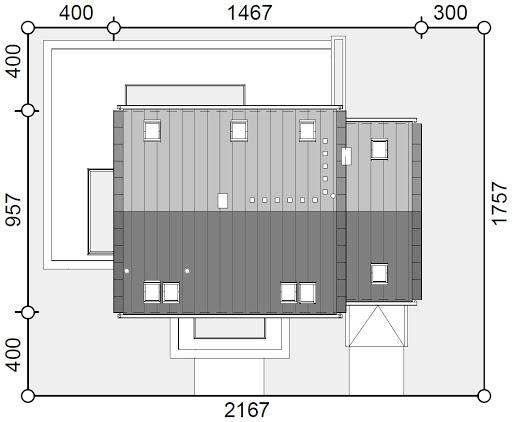 Sowa 15 z garażem - Sytuacja