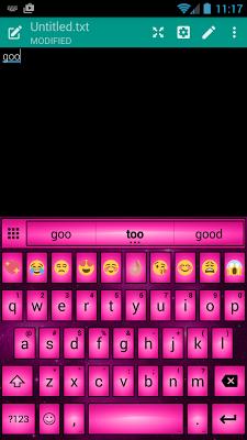 Led Pink Emoji Keyboard Theme - screenshot