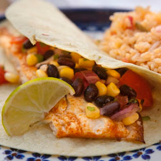 Grilled Fish Tacos with Black Bean and Corn Salsa #SundaySupper