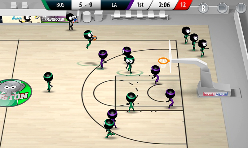 Stickman Basketball 2017- screenshot