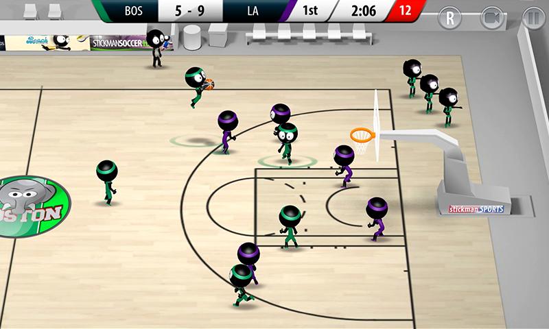 Stickman Basketball 2017 screenshot #4