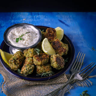 Oven-Baked Vegan Zucchini Tots.