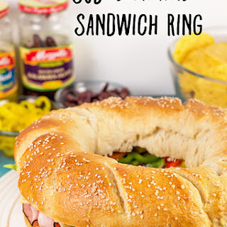 Sub Sandwich Ring Recipe (adapted from Pampered Chef)