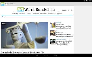 Screenshot of Werra-Rundschau