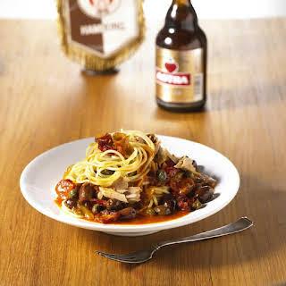 Spaghetti with Bacon and Tuna.