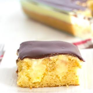 Boston Cream Poke Cake.